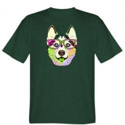 Чоловіча футболка Multi-colored dog with glasses