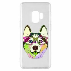 Чохол для Samsung S9 Multi-colored dog with glasses