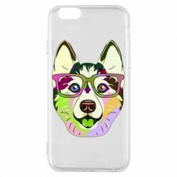Чохол для iPhone 6/6S Multi-colored dog with glasses