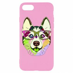 Чохол для iPhone 7 Multi-colored dog with glasses