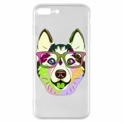 Чохол для iPhone 7 Plus Multi-colored dog with glasses