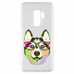 Чохол для Samsung S9+ Multi-colored dog with glasses
