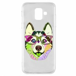 Чохол для Samsung A6 2018 Multi-colored dog with glasses