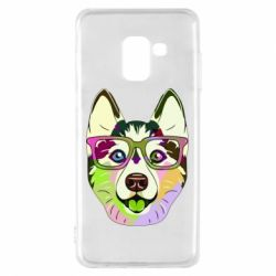 Чохол для Samsung A8 2018 Multi-colored dog with glasses