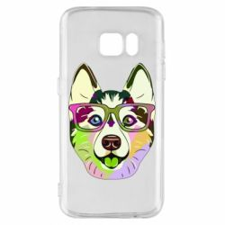 Чохол для Samsung S7 Multi-colored dog with glasses