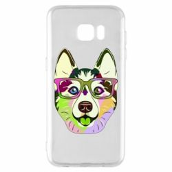 Чохол для Samsung S7 EDGE Multi-colored dog with glasses
