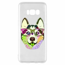 Чохол для Samsung S8 Multi-colored dog with glasses