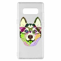 Чохол для Samsung Note 8 Multi-colored dog with glasses