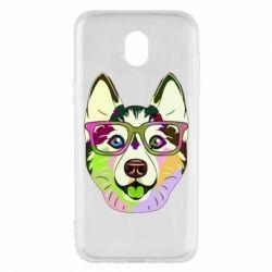 Чохол для Samsung J5 2017 Multi-colored dog with glasses