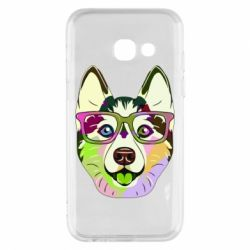 Чохол для Samsung A3 2017 Multi-colored dog with glasses