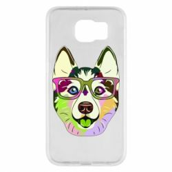 Чохол для Samsung S6 Multi-colored dog with glasses
