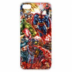 Купить MARVEL, Чехол для iPhone5/5S/SE Muscular Superheroes, FatLine