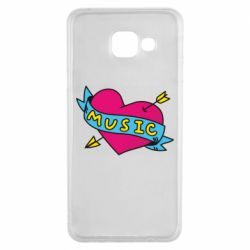 Чохол для Samsung A3 2016 Music and heart