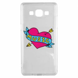 Чехол для Samsung A5 2015 Music and heart - FatLine