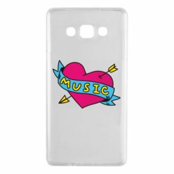 Чехол для Samsung A7 2015 Music and heart - FatLine
