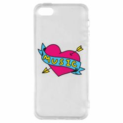 Чохол для iphone 5/5S/SE Music and heart