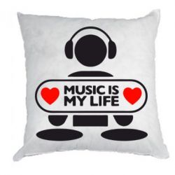 Подушка Music is my life