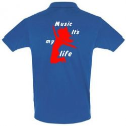 Купить Футболка Поло Music it's my life, FatLine