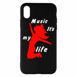 Чохол для iPhone X/Xs Music it's my life