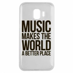 Чехол для Samsung J2 2018 Music makes the world a better place - FatLine