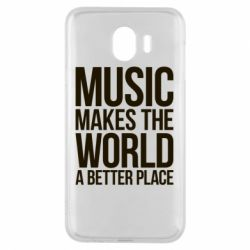Чехол для Samsung J4 Music makes the world a better place - FatLine