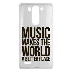 Чехол для LG G3 mini/G3s Music makes the world a better place - FatLine