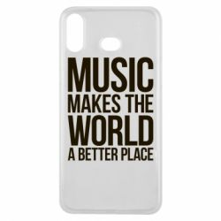 Чехол для Samsung A6s Music makes the world a better place - FatLine