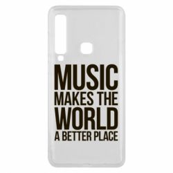 Чехол для Samsung A9 2018 Music makes the world a better place - FatLine