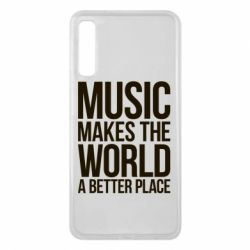 Чехол для Samsung A7 2018 Music makes the world a better place - FatLine