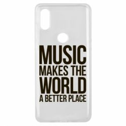 Чехол для Xiaomi Mi Mix 3 Music makes the world a better place - FatLine