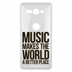 Чехол для Sony Xperia XZ2 Compact Music makes the world a better place - FatLine