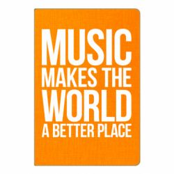 Блокнот А5 Music makes the world a better place - FatLine