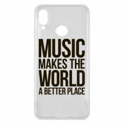 Чехол для Huawei P Smart Plus Music makes the world a better place - FatLine