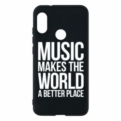 Чехол для Mi A2 Lite Music makes the world a better place - FatLine