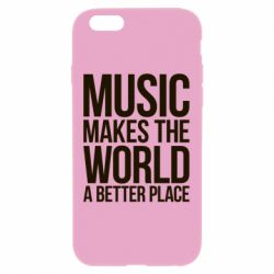 Чехол для iPhone 6 Plus/6S Plus Music makes the world a better place - FatLine