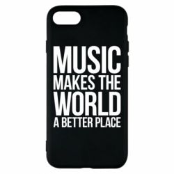 Чехол для iPhone 8 Music makes the world a better place - FatLine