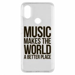 Чехол для Xiaomi Mi A2 Music makes the world a better place - FatLine