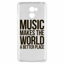 Чехол для Xiaomi Redmi 4 Music makes the world a better place - FatLine