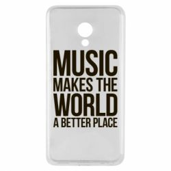 Чехол для Meizu M5 Music makes the world a better place - FatLine