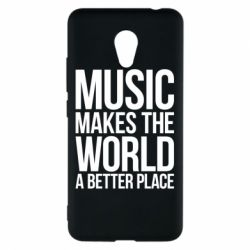 Чехол для Meizu M5c Music makes the world a better place - FatLine