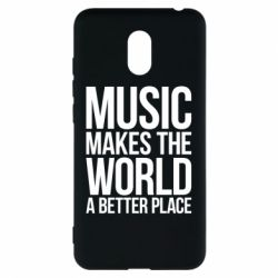 Чехол для Meizu M6 Music makes the world a better place - FatLine