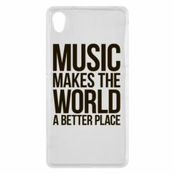 Чехол для Sony Xperia Z2 Music makes the world a better place - FatLine