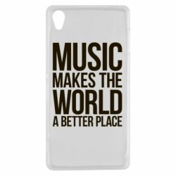 Чехол для Sony Xperia Z3 Music makes the world a better place - FatLine