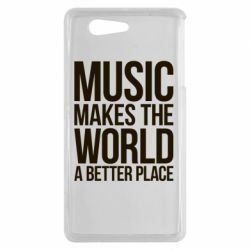 Чехол для Sony Xperia Z3 mini Music makes the world a better place - FatLine