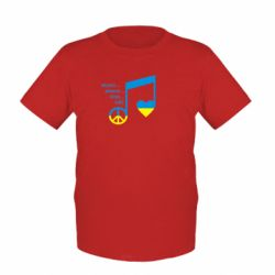 Детская футболка Music, peace, love UA - FatLine