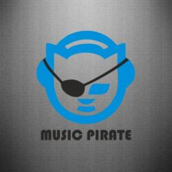 Наклейка Music pirate