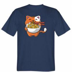 Чоловіча футболка Cat and Ramen