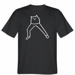Чоловіча футболка Cat in pants