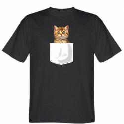 Мужская футболка Cat in your pocket