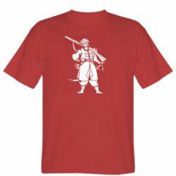 Мужская футболка Cossack with a gun